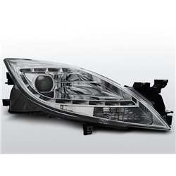 Coppia di fari a Led stile luce diurna Mazda 6 10-12 Chrome