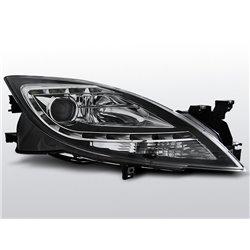 Coppia di fari a Led stile luce diurna Mazda 6 10-12 Neri