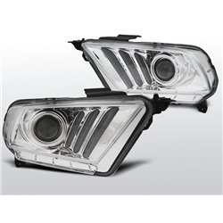 Fari Angel Eyes Ford Mustang V 10-13 Chrome