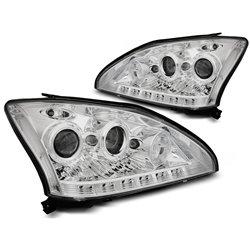 Coppia di fari a Led Tube Light Lexus 330 / 350 03-08 Chrome