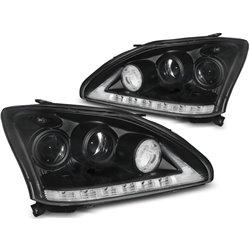 Coppia di fari a Led Tube Light Lexus 330 / 350 03-08 Neri