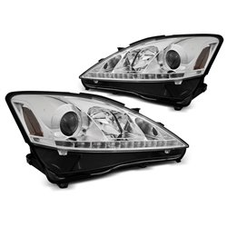 Coppia di fari a Led DRL Lexus IS 06-13 Chrome