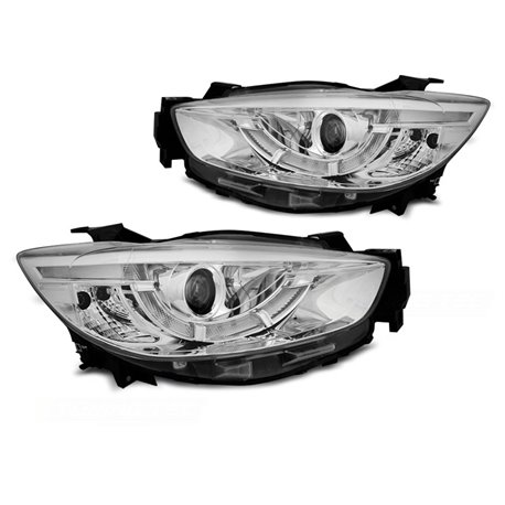 Coppia di fari Tube light e DRL per Mazda CX5 11-15 Chrome