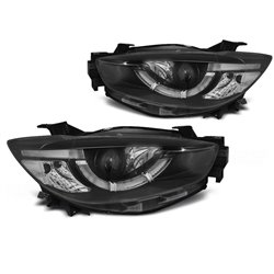 Coppia di fari Tube light e DRL per Mazda CX5 11-15 Neri