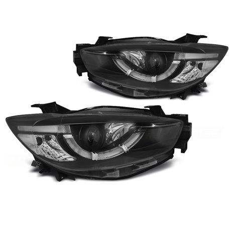 Coppia di fari Tube light e DRL per Mazda CX5 11-15 Neri