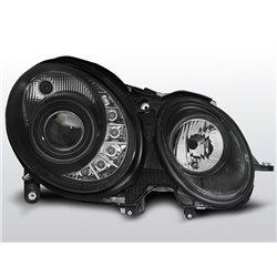 Coppia di fari a Led stile luce diurna Mercedes Classe E W211 02-06 Neri