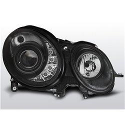 Coppia di fari a Led stile luce diurna Mercedes Classe E W211 06-09 Neri