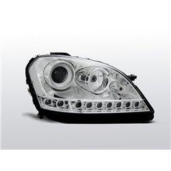 Coppia di fari a Led stile luce diurna Mercedes Classe M W164 05-07 Chrome