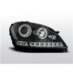 Coppia di fari a Led stile luce diurna Mercedes Classe M W164 05-07 Neri