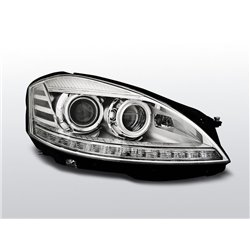 Coppia di fari Xenon e AFS Led Mercedes Classe S W221 05-09 Chrome