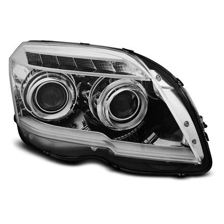 Coppia di fari a Led Tube Light Mercedes Classe G W204 08-12 Chrome