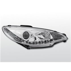 Fari Led stile luce diurna Peugeot 206 98-02 Chrome