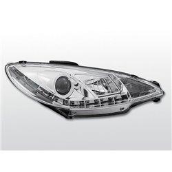 Fari Led stile luce diurna Peugeot 206 98-02 Chrome