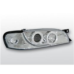 Fari Angel Eyes Subaru Impreza 93-00 Chrome