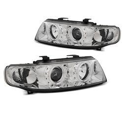 Fari Angel Eyes CCFL Seat Leon / Toledo 99-04 Chrome