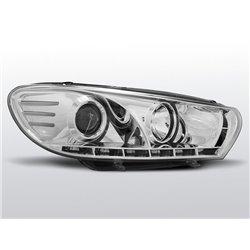 Coppia di fari a Led stile luce diurna Volkswagen Scirocco III 08-14 Chrome