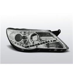 Coppia di fari a Led stile luce diurna Volkswagen Tiguan 07-11 Chrome