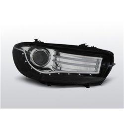 Coppia di fari a Led stile luce diurna Volkswagen Scirocco III 08-14 Neri