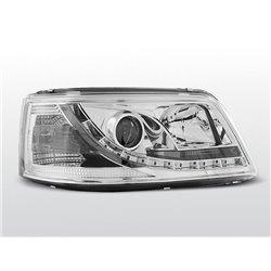 Coppia di fari a Led vera luce diurna Volkswagen T5 03-09 Chrome