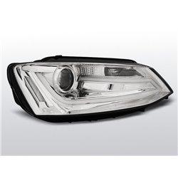 Coppia di fari DRLvera luce diurna con tubo fibra ottica Volkswagen Jetta VI 11- Chrome