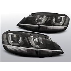 Coppia di fari DRL vera luce diurna Volkswagen Golf VII 12 Chrome Line