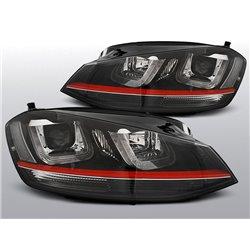 Coppia di fari DRL vera luce diurna Volkswagen Golf VII 12 GTI Look Red Line