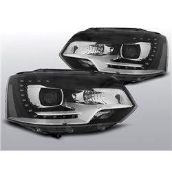 Coppia di fari a Led DRL vera luce diurna Xenon Look Volkswagen T5 10-15