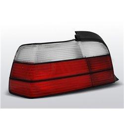Coppia fari posteriori BMW Serie 3 E36 Coupe-Cabrio 90-99 Rossi e Bianchi