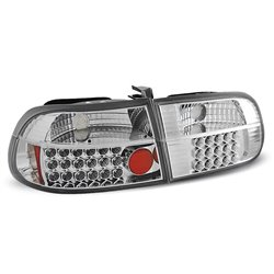 Coppia fari Led posteriori Honda Civic V HB 91-95 Chrome