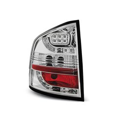 Coppia fari Led posteriori Skoda Octavia II station 04- Chrome