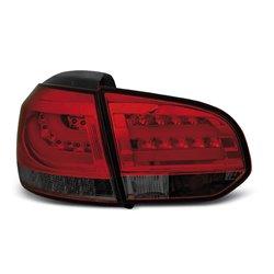 Coppia fari Led posteriori Volkswagen Golf VI 08-12 Rossi Fume