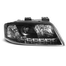 Coppia di fari a Led stile luce diurna Audi A6 C5 97-01 Neri