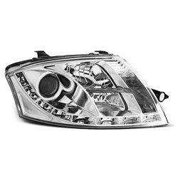 Coppia di fari a Led stile luce diurna Audi TT 8N 98-06 Chrome