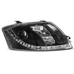 Coppia di fari a Led stile luce diurna Audi TT 8N 98-06 Neri