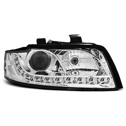 Coppia di fari a Led stile luce diurna Audi A4 B6 00-04