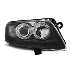 Fari Angel Eyes Audi A6 C6 04-08 Neri