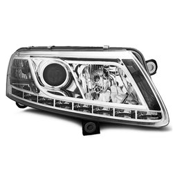 Fari Led vera luce diurna Audi A6 C6 04-08 Chrome