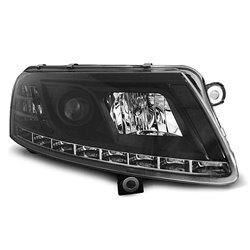 Fari Led vera luce diurna Audi A6 C6 04-08 Neri