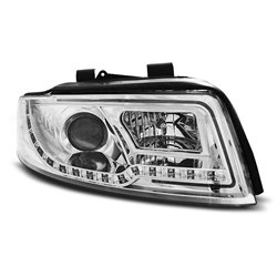 Fari Led stile luce diurna con tubo fibra ottica Audi A4 B6 00-04