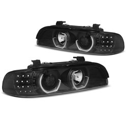 Fari Angel Eyes 3D Led BMW Serie 5 E39 95-03 Neri