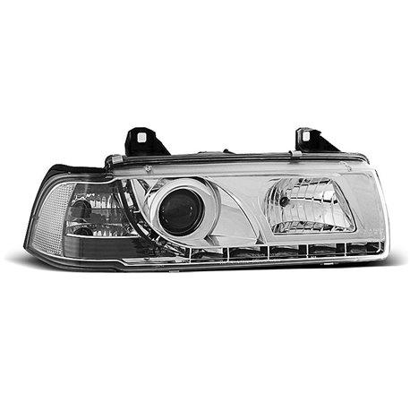 Coppia di fari a Led stile luce diurna BMW Serie 3 E36 90-99 Coupe & Cabrio