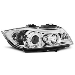 Fari Angel Eyes BMW Serie 3 E90 / E91 05-08 Chrome