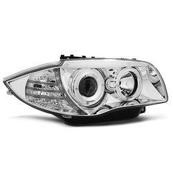 Fari Angel Eyes BMW Serie 1 E87-E81 04-07 Chrome