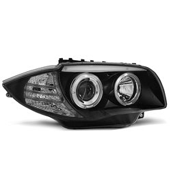 Fari Angel Eyes BMW Serie 1 E87-E81 04-07 Neri