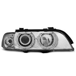 Fari Angel Eyes Xenon BMW Serie 5 E39 95-03 Chrome