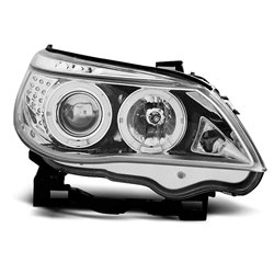 Fari Angel Eyes BMW Serie 5 E60 / E61 03-07 Chrome
