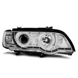 Coppia di fari Xenon CCFL Led stile luce diurna BMW X5 E53 99-03