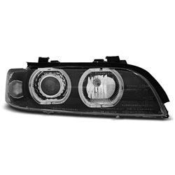 Fari Angel Eyes Led BMW Serie 5 E39 95-03 Neri