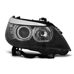 Fari Led Angel Eyes BMW Serie 5 E60 / E61 03-07 Neri