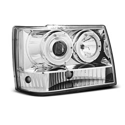 Fari Angel Eyes Chrysler Jeep Grand Cherokee 93-98 Chrome